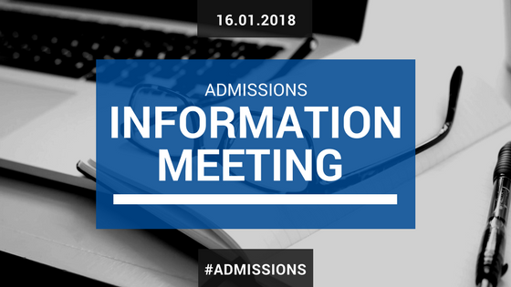 Admissions Information Meeting