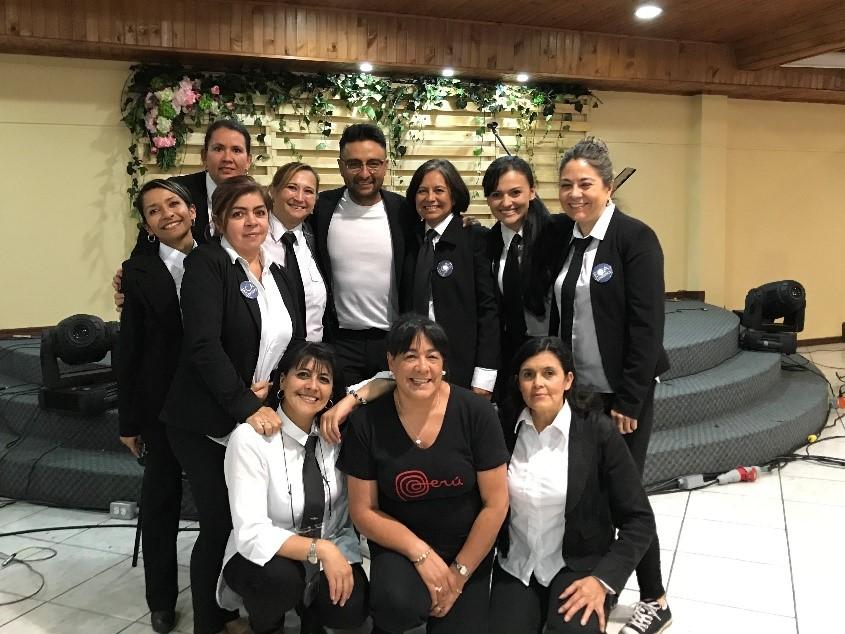 ECA team at the concert