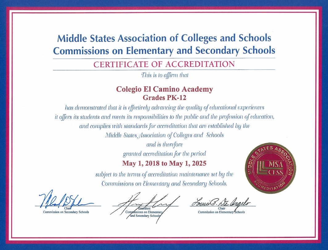 ECA MSA Accreditation