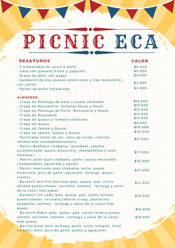 Picnic menu 1