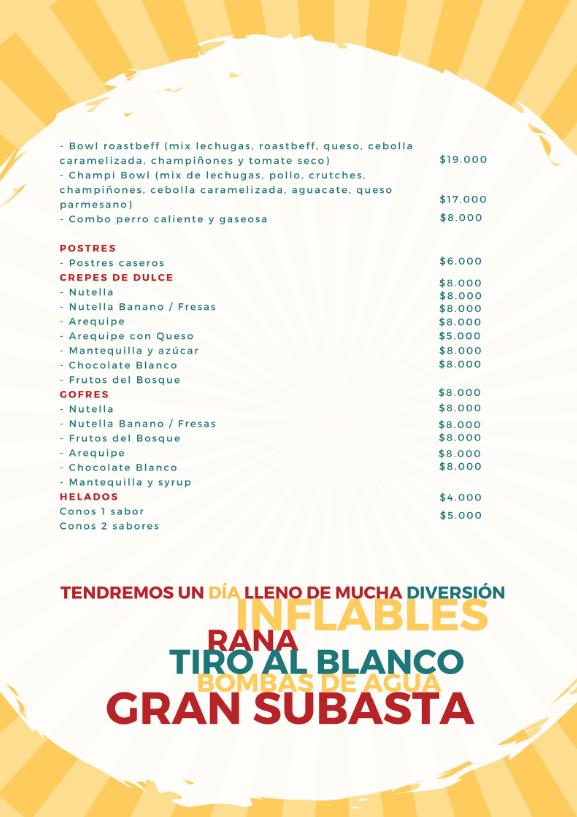 Picnic menu 2